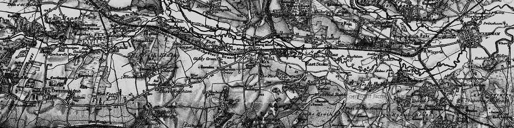Old map of Wool in 1897