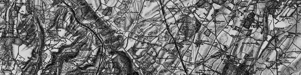 Old map of Woolage Village in 1895