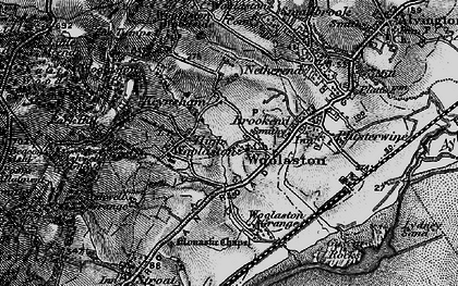 Old map of Woolaston Grange in 1897