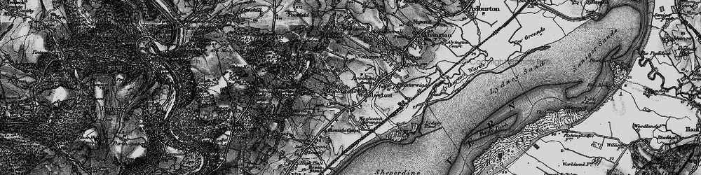 Old map of Woolaston in 1897