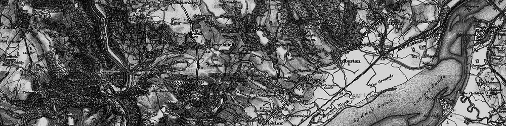 Old map of Woolaston Common in 1897