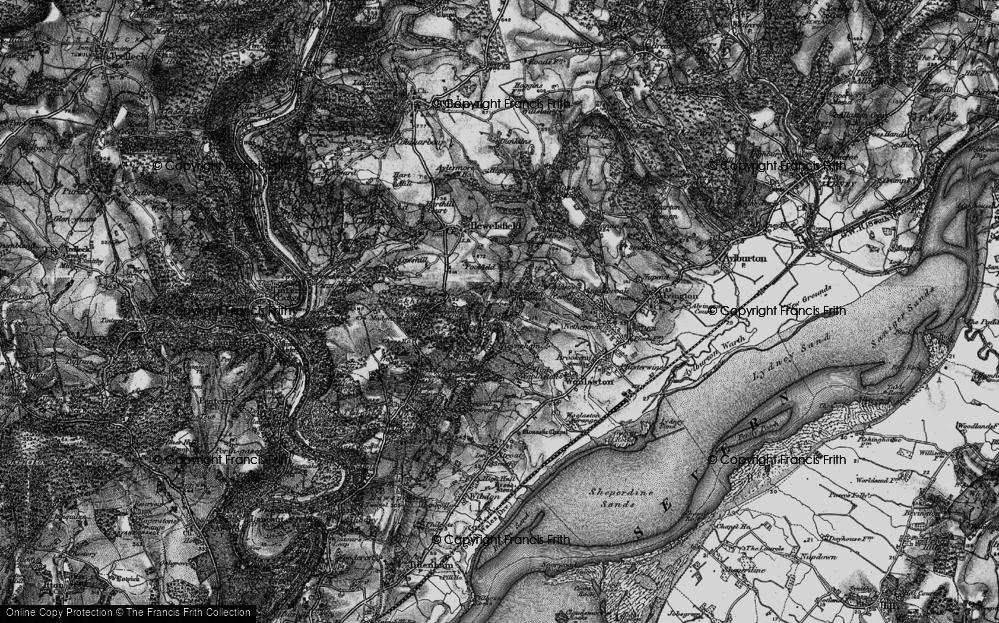 Old Map of Woolaston Woodside, 1897 in 1897