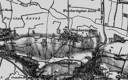 Old map of Woolavington in 1898