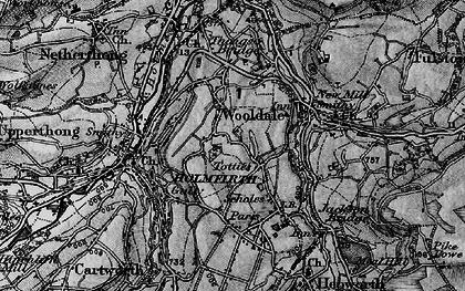 Old map of Wooldale in 1896