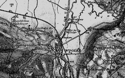 Old map of Wooler in 1897