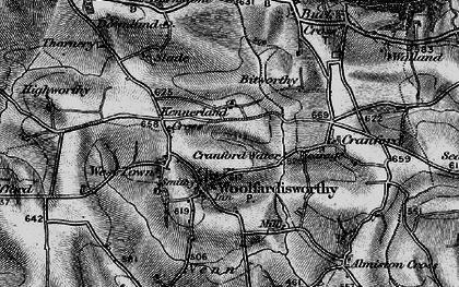Old map of Woolfardisworthy in 1895
