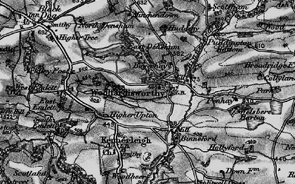 Old map of Woolfardisworthy in 1898