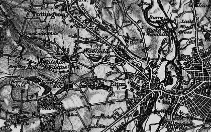 Old map of Woolfold in 1896