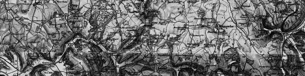 Old map of Woolford's Water in 1898