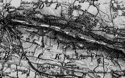 Old map of Woolgarston in 1897