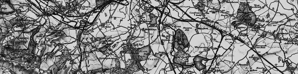 Old map of Woolgreaves in 1896