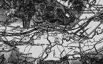 Old map of Woolhampton in 1895