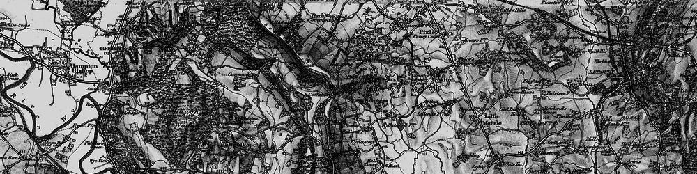 Old map of Woolhope Cockshoot in 1898