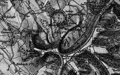 Old map of Woolland in 1898