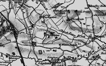 Old map of Woollaston in 1897