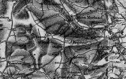 Old map of Awsland in 1895