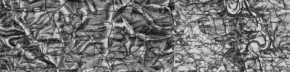 Old map of Woollaton in 1895