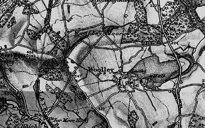 Old map of Woolley Edge Service Area in 1896
