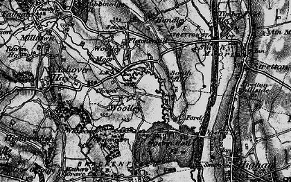Old map of Woolley in 1896