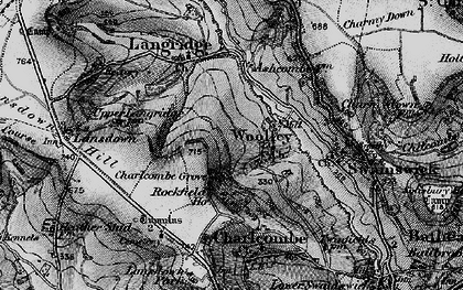 Old map of Woolley in 1898