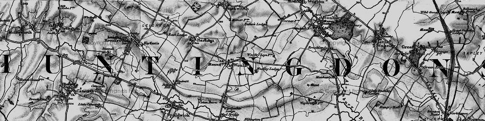Old map of Woolley Hill in 1898