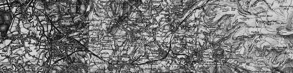 Old map of Woolley Bridge in 1896