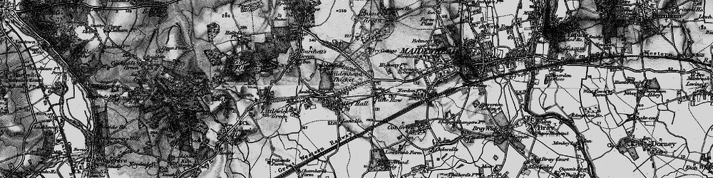Old map of Woolley Green in 1895