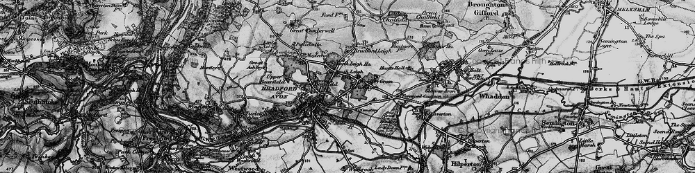 Old map of Woolley Green in 1898