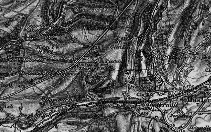 Old map of Woolmer Hill in 1895