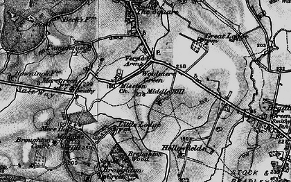 Old map of Woolmere Green in 1898