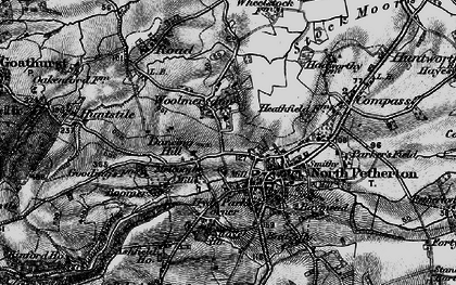 Old map of Woolmersdon in 1898