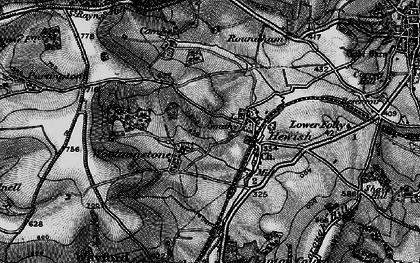 Old map of Woolminstone in 1898