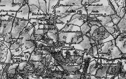 Old map of Woolpack Corner in 1895