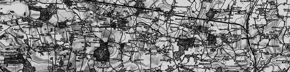 Old map of Woolpit in 1898