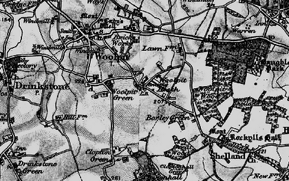 Old map of Woolpit Heath in 1898