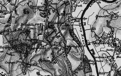 Old map of Woolridge in 1896