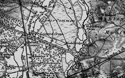Old map of Woolsbridge in 1895