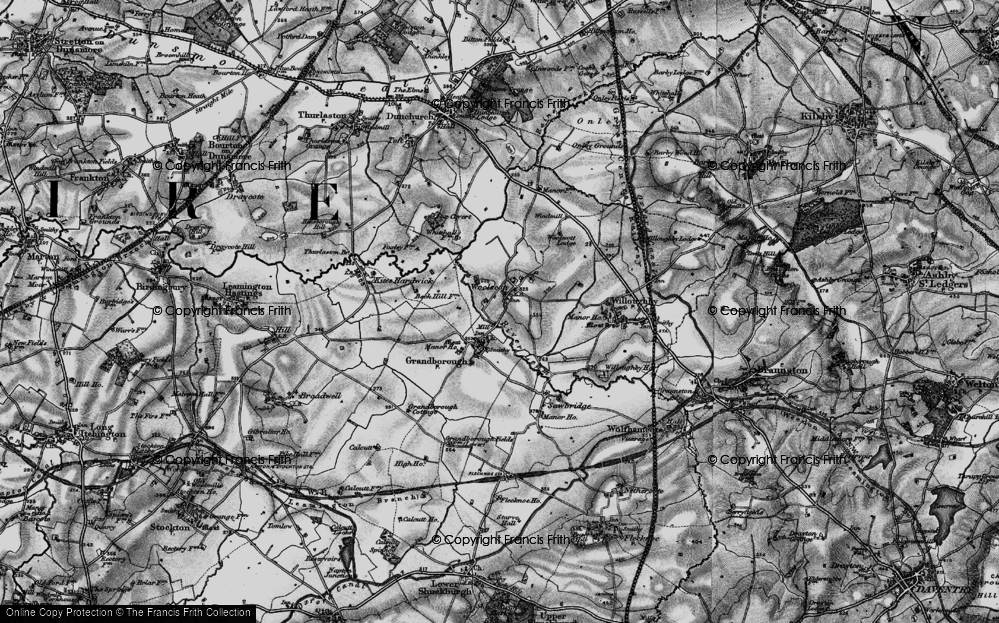 Old Map of Woolscott, 1898 in 1898