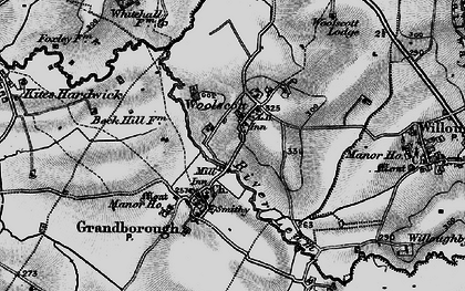 Old map of Woolscott in 1898
