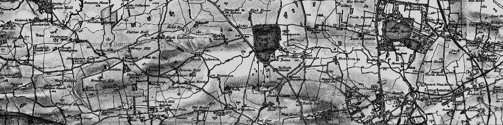 Old map of Woolsington in 1897