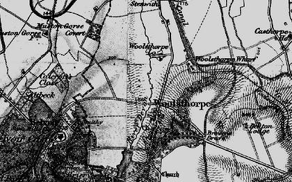 Old map of Woolsthorpe By Belvoir in 1899