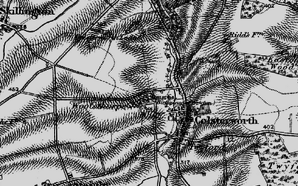 Old map of Woolsthorpe-by-Colsterworth in 1895
