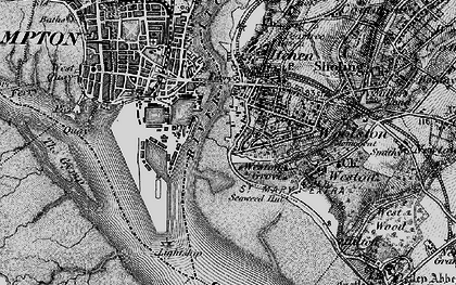Old map of Woolston in 1895