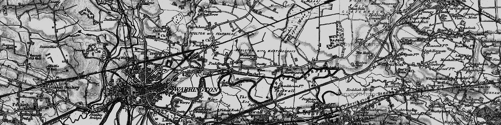 Old map of Woolston in 1896
