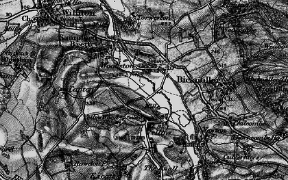 Old map of Woolston in 1898
