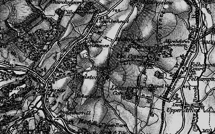 Old map of Woolston in 1899