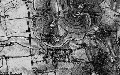 Old map of Woolstone in 1896