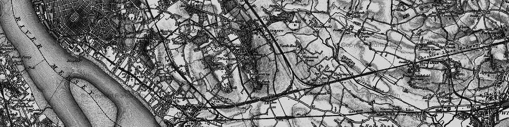 Old map of Woolton in 1896