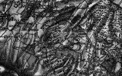Old map of Woolton Hill in 1895