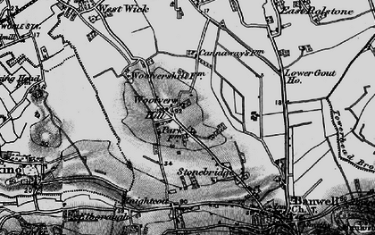 Old map of Woolvers Hill in 1898